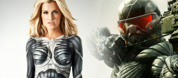 ASHLEY ROBERTS Suits Up To Celebrate CRYSIS 3 Launch